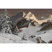 Winter Mountain' Oil on Canvas Art - Multi