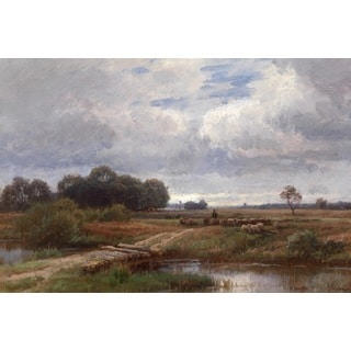 Paul Weber 'Return of the Sheep' Oil on Canvas Art