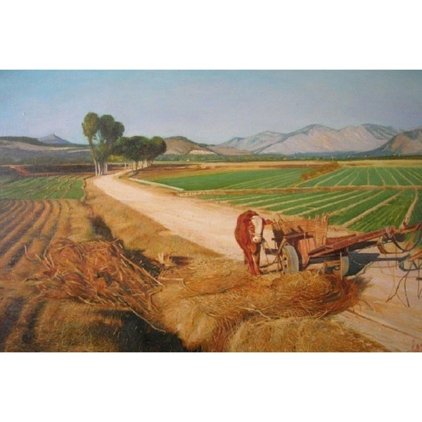 The Country' Oil on Canvas Art