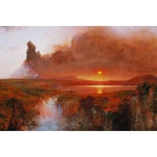 Frederic Edwin Church 'Volcano Cotopaxi' Oil on Canvas Art
