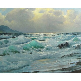 The Ocean Wave' Oil on Canvas Art - Multi