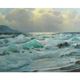 The Ocean Wave' Oil on Canvas Art - Multi