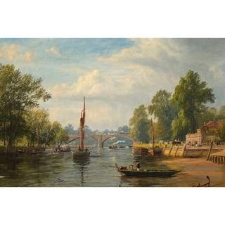 Bridge' Oil on Canvas Art