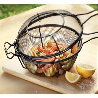 Non-stick Chef's Small Outdoor Grill Basket and Skillet