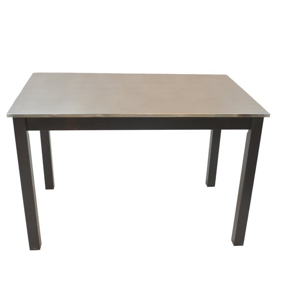 Darby Stainless Steel Top Table Free Shipping Today  : Darby Stainless Steel Top Table a33450f3 f961 483c 920e 1d775abc615c600 from www.overstock.com size 600 x 600 jpeg 7kB