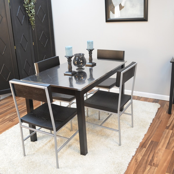 Darby Stainless Steel Top Table   Free Shipping Today   Overstock.com    16193866