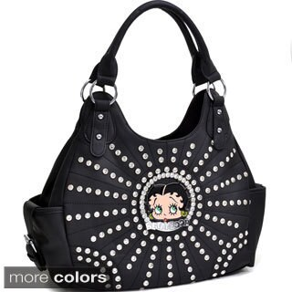 Betty Boop Rhinestone and Multi-Studded Shoulder Bag