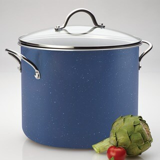 Farberware New Traditions Speckled Aluminum Nonstick 12-quart Blue Covered Stockpot
