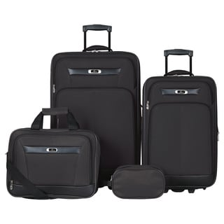 Skyway Luggage Desoto 2.0 Black 4-piece Travel Luggage Set