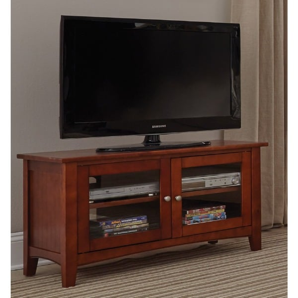 Fair Haven 36 Inch Wood Tv Stand With Glass Doors Free