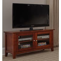 Copper Grove Taber 36-inch Wood TV Stand with Glass Doors