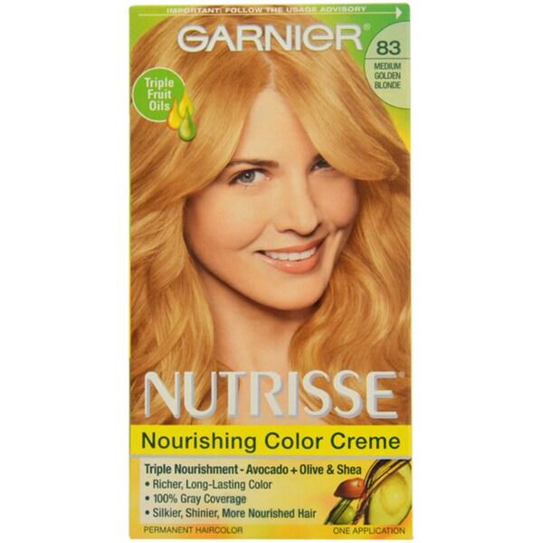 Garnier Nutrisse Permanent Medium Golden Blonde 83 Hair