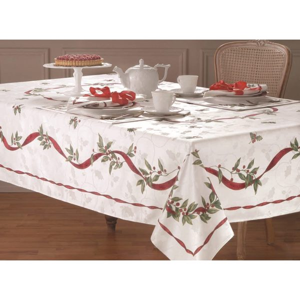 58b73f653e8 Shop Lenox Laurel Wreath Cotton Blend Table Cloth - Free Shipping On Orders  Over  45 - Overstock - 8988589