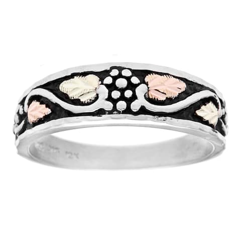 Black Hills Gold and Silver Antiqued Ring