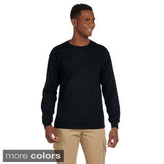 Gildan Men's Ultra Cotton Long Sleeve Pocket T-shirt