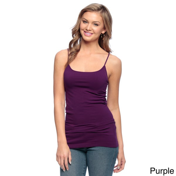 Nikibiki Lace Camisole Lavender Seamless Cami Top Lilac V Neck One Size Juniors