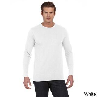 Men's 'Joey' Slub Long Sleeve Crew Neck T-shirt