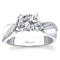 Barkev's Designer 14k White Gold Twist Diamond Ring