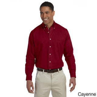 Men's Long-sleeve Wrinkle-resistant Oxford Shirt (More options available)