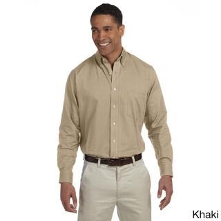 Men's Long-sleeve Wrinkle-resistant Oxford Shirt