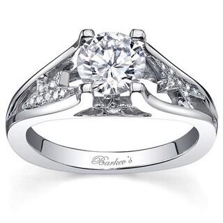 Barkev's Designer 14k White Gold Diamond Engagement Ring