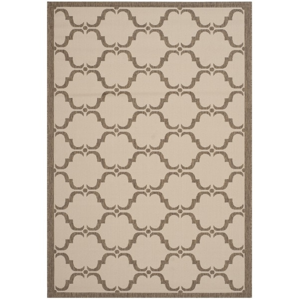 Safavieh Courtyard Moroccan Beige/ Brown Indoor/ Outdoor Rug - 8' x 11'