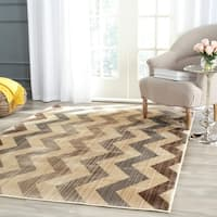 Safavieh Infinity Yellow/ Brown Polyester Rug (4' x 6')