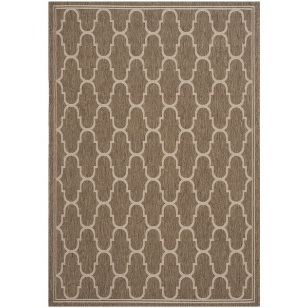 Safavieh Courtyard Trellis Brown/ Beige Indoor/ Outdoor Rug - 8' x 11'2