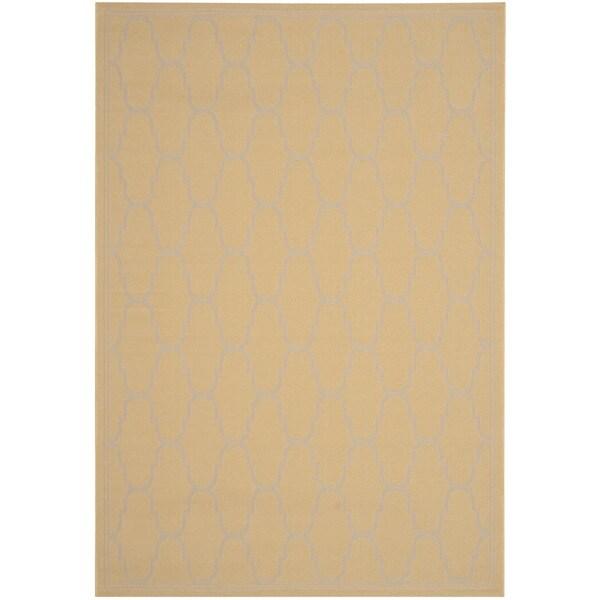 """Safavieh Courtyard Trellis Yellow/ Beige Indoor/ Outdoor Rug - 8' x 11'2"""""""