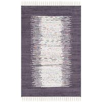 Safavieh Hand-woven Montauk Ivory/ Purple Cotton Rug (2'6 x 4') - 2'6 x 4'