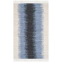Safavieh Hand-woven Montauk Grey/ Black Cotton Rug - 2'6 x 4'