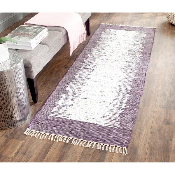 Shop Safavieh Montauk Hand Woven Flatweave Ivory Purple