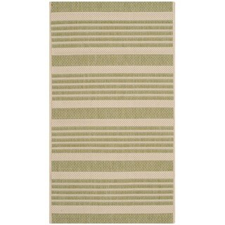 Safavieh Indoor/ Outdoor Moroccan Courtyard Beige/ Sweet Pea Rug (2' x 3'7)
