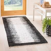 Safavieh Hand-woven Montauk Ivory/ Black Cotton Rug - 2'3 x 6'