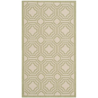 Safavieh Courtyard Grey Beige Zig Zag Indoor Outdoor Rug