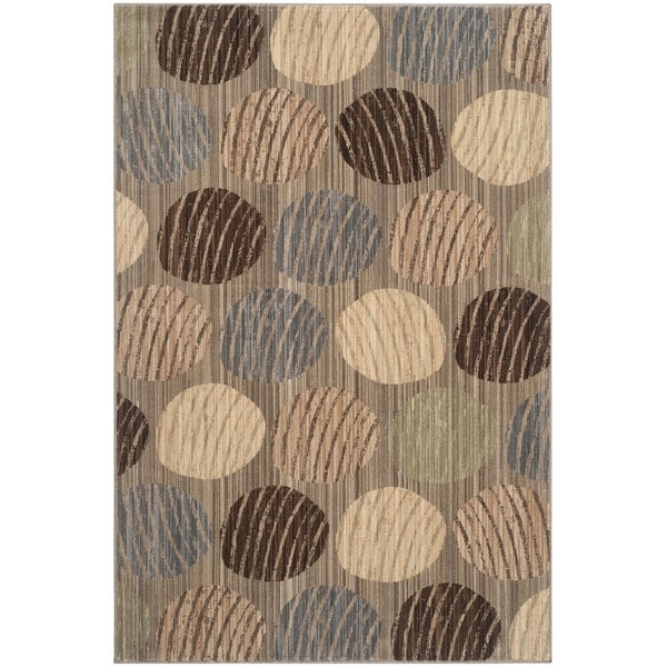 Safavieh Infinity Taupe/ Beige Polyester Rug (8' x 10')