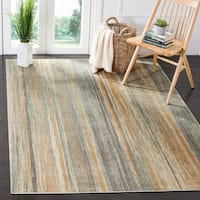 Safavieh Vintage Light Blue Abstract Distressed Silky Viscose Rug (4' x 5'7)