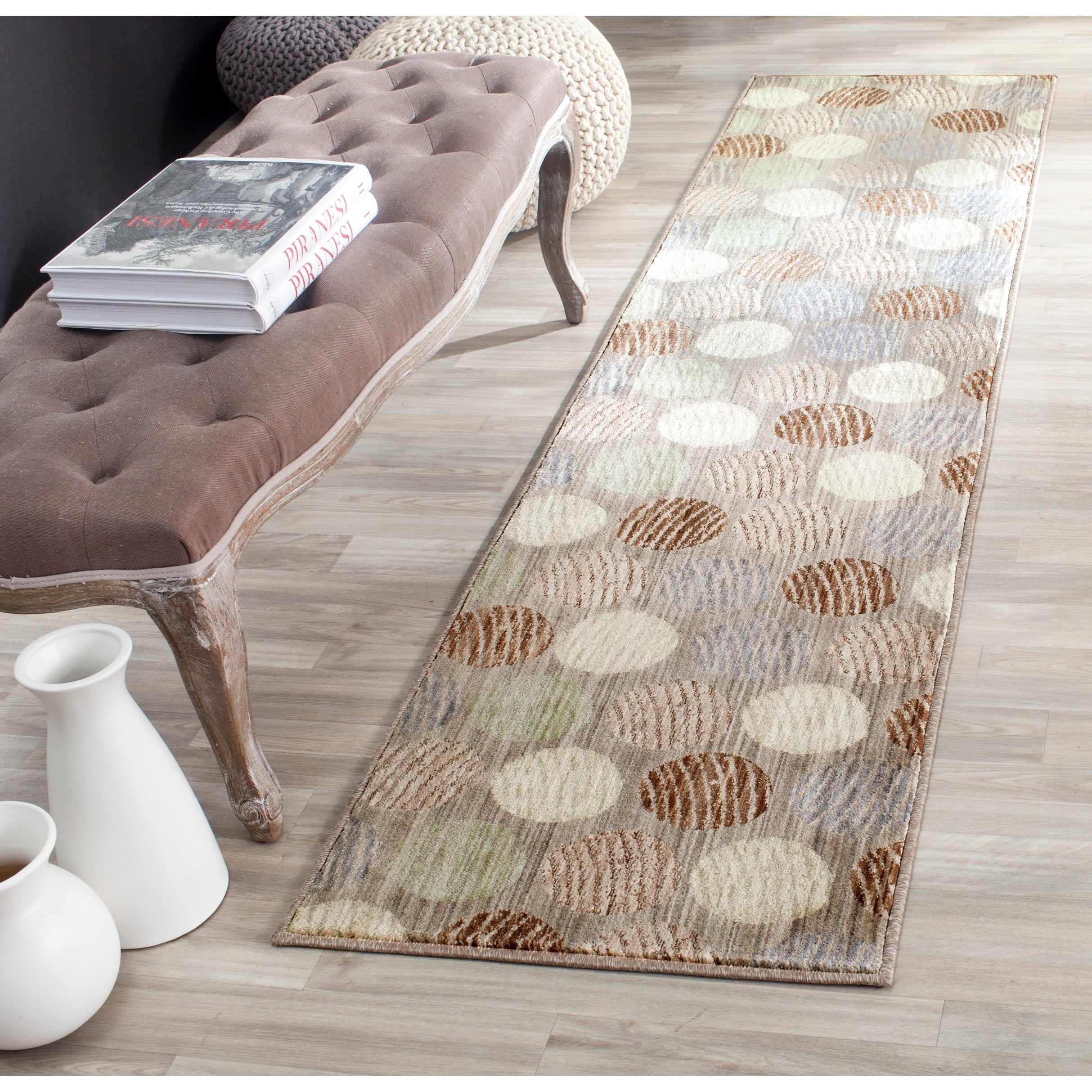 Safavieh Infinity Taupe/ Beige Polyester Rug (2' x 8') (I...