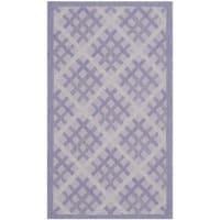 Safavieh Indoor/ Outdoor Courtyard Lilac/ Dark Lilac Rug - 2'7 x 5'