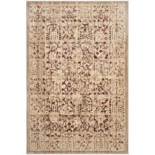 Safavieh Infinity Beige/ Yellow Polyester Rug (8' x 10')