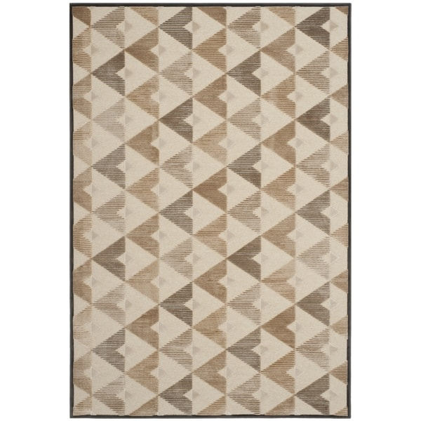 Safavieh Paradise Modern Soft Anthracite/ Cream Viscose Rug - 8' x 11'2