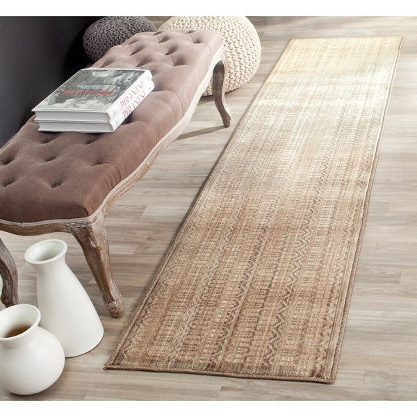 Safavieh Infinity Beige/ Taupe Polyester Rug - 2' x 8'