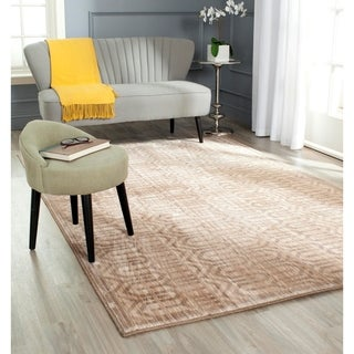 Safavieh Infinity Beige/ Taupe Polyester Rug (2' x 8')