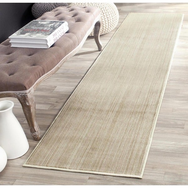Safavieh Infinity Beige/ Green Polyester Rug (2' x 8')