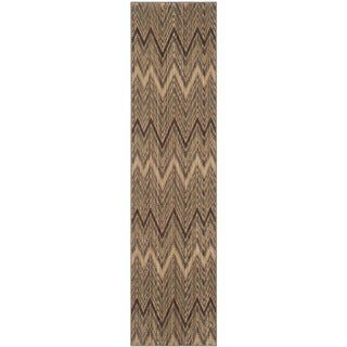 Safavieh Infinity Taupe/ Beige Polyester Rug (2' x 8')