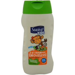 Suave Kids Smoothers Cowabunga Coconut 12-ounce 2-in-1 Shampoo