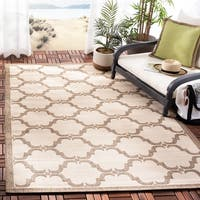 Safavieh Courtyard Moroccan Beige/ Brown Indoor/ Outdoor Rug - 5'3 x 7'7
