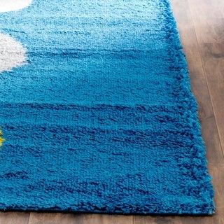 Safavieh Shag Blue/ Multi Rug (5' Square)