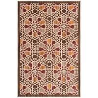 Safavieh Infinity Brown/ Beige Polyester Rug - 5'1 x 7'6