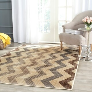 Safavieh Infinity Yellow/ Brown Polyester Rug (9' x 12')
